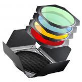 RBD-2 шторки с цветными фильтрами для рефлектора