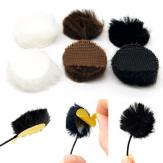 Fur Circles (pack of 9 Mixed colors)